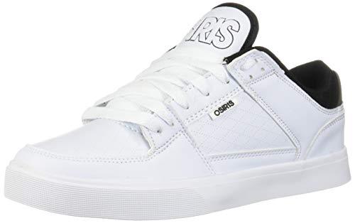 Osiris Men's Protocol Skate Shoe White/Black/Diamond 9 M US (Osiris White Shoes)