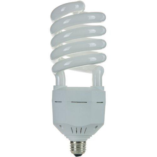 Sunlite SL65/50K/MED 65 Watt High Wattage Spiral Energy Saving CFL Light Bulb Medium Base 120 Volt Super White by Sunlite