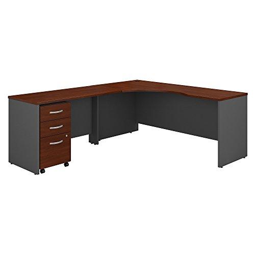 Bush Business Furniture Series C 72W Left Handed Corner Desk with 48W Return and Mobile File Cabinet in Hansen Cherry by Bush Business Furniture