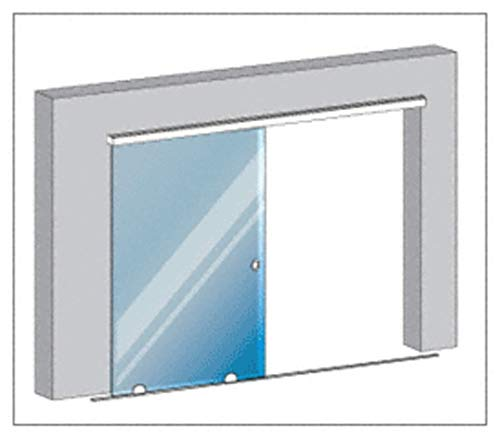 CRL GSDH1BS Brushed Stainless GSDH1 Series Single Bottom Rolling Door Installation Assembly - 118