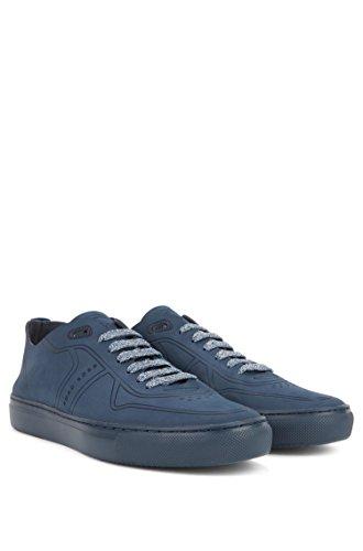 Boss Sneaker Enlight_Tenn_unld Aus Nubukleder IM Tennis-Stil Dunkelblau 408