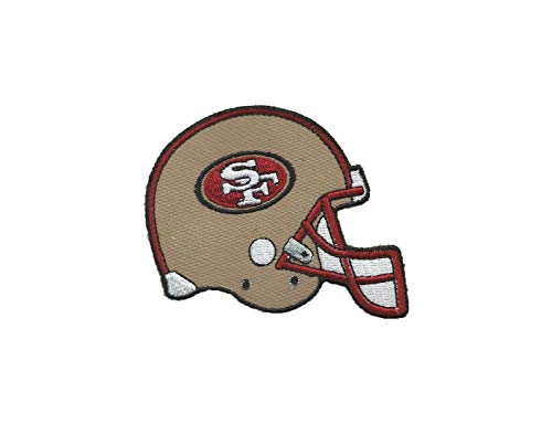 SAN Francisco 49ERS Helmet Iron ON Patch 2 1/2 X 3 INCH