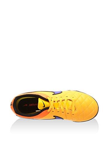 Nike Jr Tiempo Genio Leather Tf - - Unisex Niños Naranja / Morado