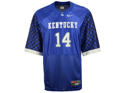 NCAA Nike Kentucky Wildcats #14 Football Jersey - Royal Blue (Medium)