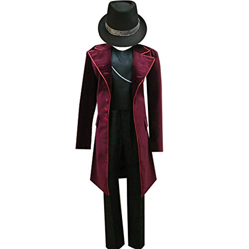 AGLAYOUPIN Adult Kids Chocolate Red Costume Fancy Outfit Suit Halloween (XXL)]()