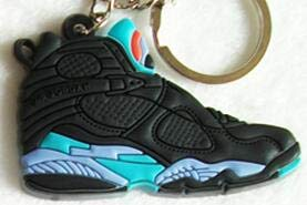 Mct12 - Mini Silicone Jordan 8 Keychain Bag Charm Woman Men Kids Key Ring  Gifts Sneaker d4780728055a