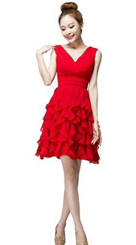 Vimans Ad A Vestito Linea Rosso Donna 50 q87qwr