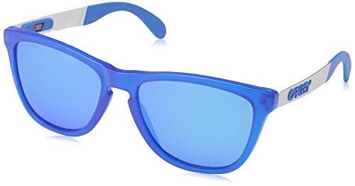 Oakley Men's OO9428 Frogskins Mix Round Sunglasses, Matte Translucent Sapphire/Prizm Sapphire, 55 ()