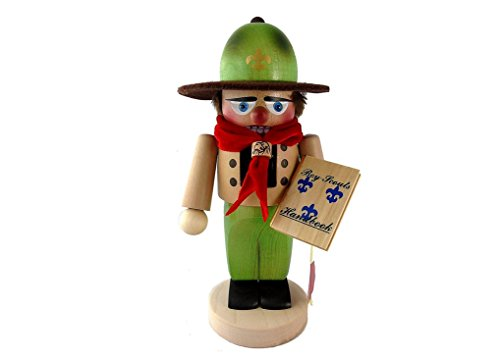 German Christmas Nutcracker Chubby Boy Scout - 11.5 inch - Authentic German Erzgebirge Nutcrackers - Steinbach (Scout Nutcracker)