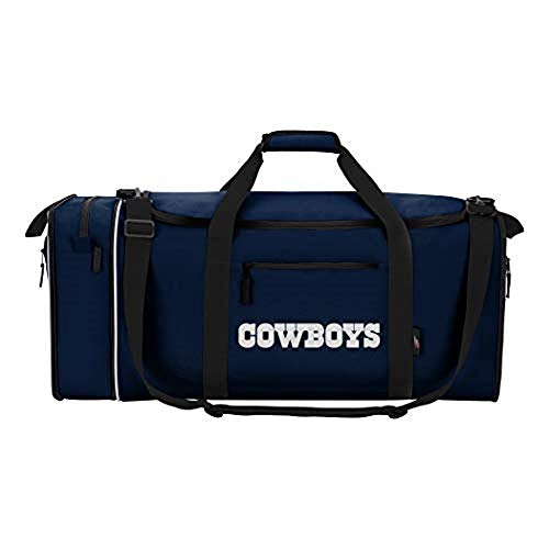 "Officially Licensed NFL Dallas Cowboys ""Steal"" Duffel Bag, Blue, 28"" x 11"" x 12"""