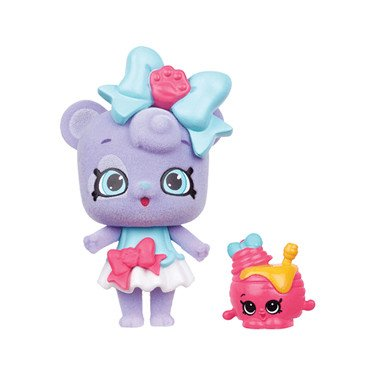 Shopkins Wild Style Ambear Bow Shoppet and Honey Pots Exclusive
