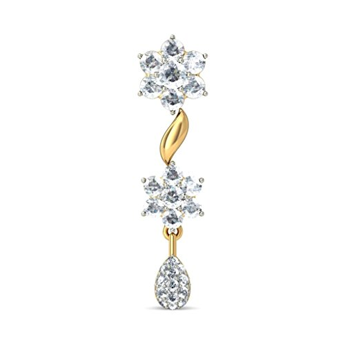 Or jaune 18 K 1.11 carat au total White-diamond (IJ | SI) Pendants d'oreilles