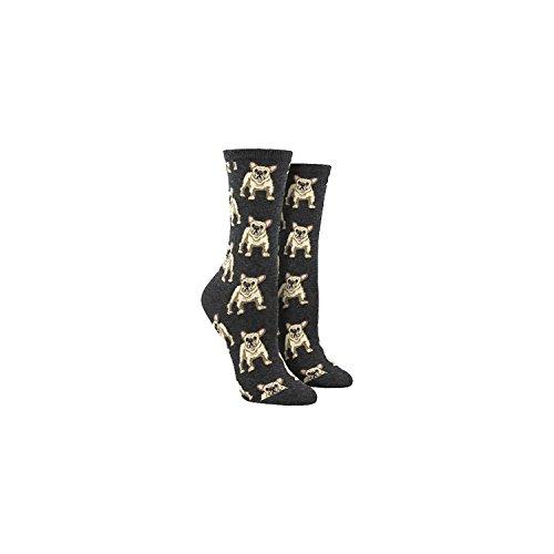 Socksmith Women's Frenchie Socks in Charcoal Grey