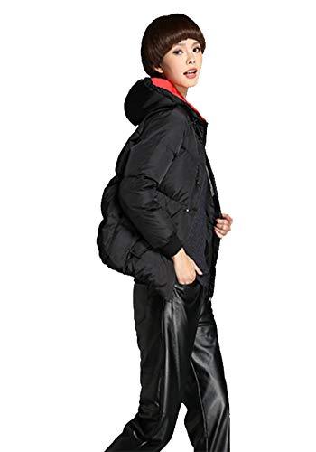 Simple Black Longues Noire Femmes Grande Pour À Taille h Duvet D'hiver De Manches Veste En Mode ZrBFZq