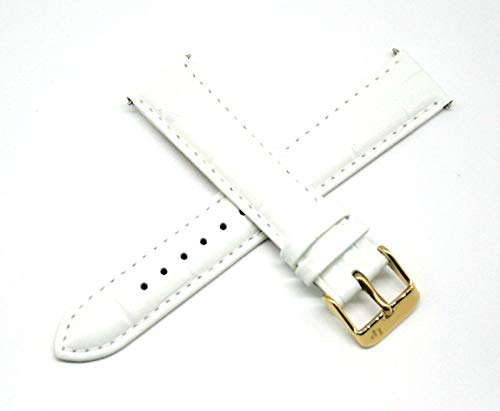 Lucien Piccard 18MM Alligator Grain Genuine Leather Watch Strap 7.5
