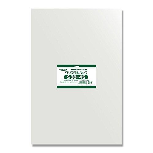 ヘイコー OPP袋 テープ無し クリスタルパック S 30-45 1000枚(100枚×10袋) B07FD7Q9WF