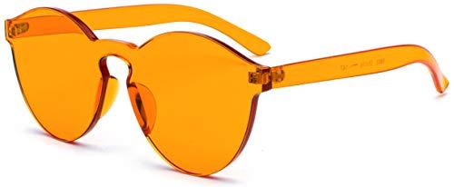 J&L Glasses Fashion Rimless One Piece Clear Lens