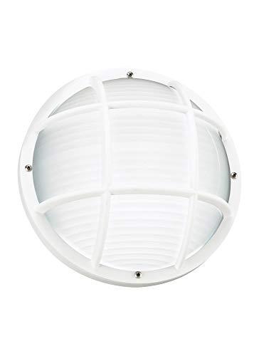 (Sea Gull Lighting 89807EN3-15 One Light Outdoor Wall/Ceiling Mount, White)