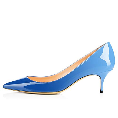 Slip High Women's Women Shoes Blue Maguidern Toe for Shoes Pointed Pumps Gradient Heels Pumps On Sexy Hvtq8tTx