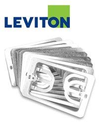 Leviton C0224-CP 1-Gang Wallplate Mounting Bracket, 10-Pack