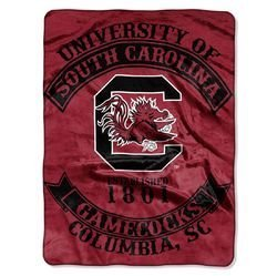 60' Plush Blanket (South Carolina Gamecocks 60''x80'' Royal Plush Raschel Throw Blanket - Rebel Design by Leadoff)