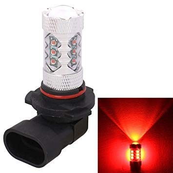 Uniqus 9005 80W 800LM Red Light 16LEDs Car Fog Light Lamp Bulb for Vehicles, Constant Current, DC 12-24V
