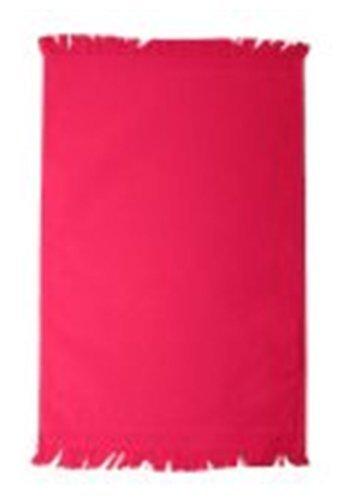 (Towels Plus By Anvil Fringed Spirit Towel (Spirit Red) (ONE))