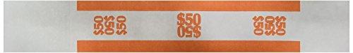 Sparco Bill Strap, 50, 1000 per Box, White/Orange (SPRBS50WK)