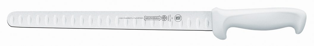 Mundial W5627-12GE 12-Inch Hollow Edge Slicing Knife, White