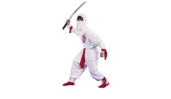 White Ninja Deluxe Child Costume Size Medium (8-10) (japan ...