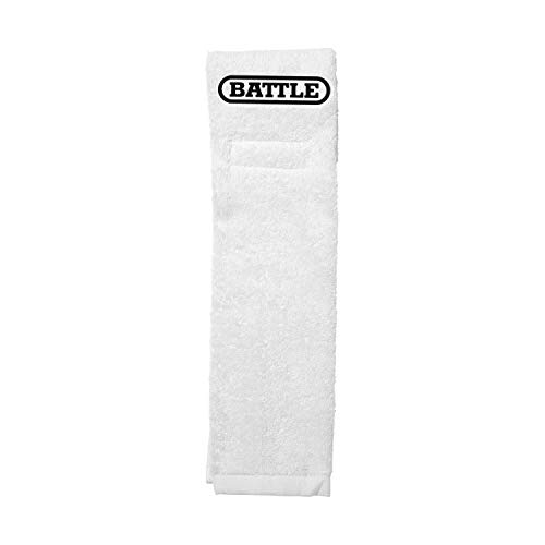 Battle Football Player Towel, White, One -