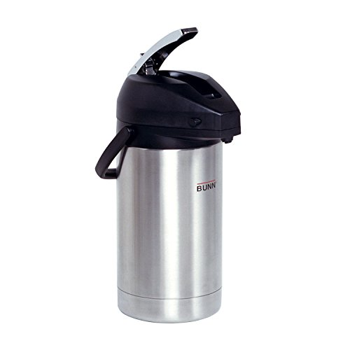 Coffee Pump Pots - BUNN  32130.0000 3.0-Liter Lever-Action Airpot, Stainless Steel
