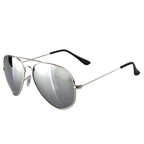 Lunettes Hommes Soleil Protection Polarisées Femmes de Eyewear Retro Argent UV Lentille LINNUO Sunglasses Aviateur Miroir Z4RwBxnZ