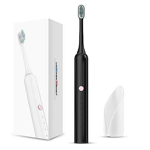 Aiwejay SONIC Electric Toothbrush, IPX7 Waterproof. Adult Powerful Rechargeable.Clean and Massage.Black