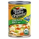 Health Valley Organic Soup, Chicken Rice, 15 Ounce Cans (Pack of 12) ( Value Bulk Multi-pack)