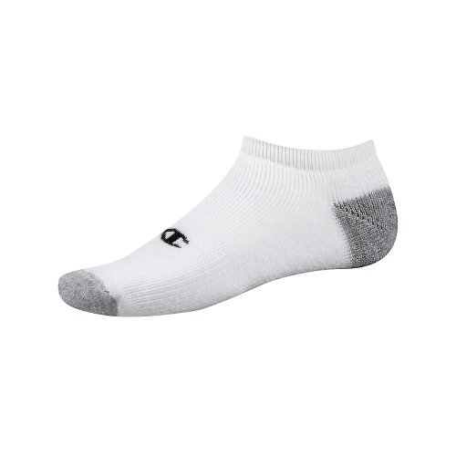 Champion Double Dry Performance Men's No-Show Socks 6-Pack_White_10-13