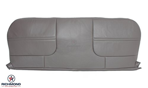 1999-2001 Ford F450 XL Work Truck -Bottom Bench Seat Replacement Vinyl Cover Gray - Medium Duty Truck Seats