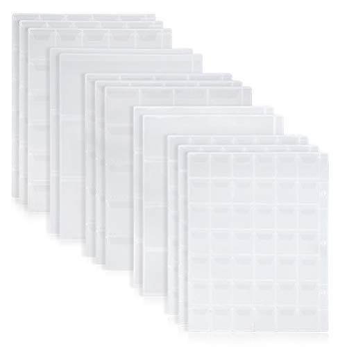 WOWOSS 12 Sheet Coin Pocket Pages Plastic Clear Coin Holders Coin Stamp Collector Binder Sheets Currency Collecting Album Supplies with 3, 4, 20, 30 and 42 Pocket ()
