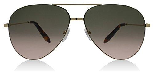 Victoria Beckham VBS119 C12 Khaki Pink Victoria Feather Aviator Sunglasses - Sunglasses Beckham Victoria Pink