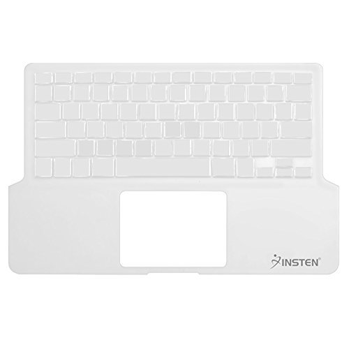 Clear Durable Soft Rubber Silicone Skin Whole Keyboard Cover for New Aluminum Unibody/Black Keyboard Apple MacBook Pro 13.3