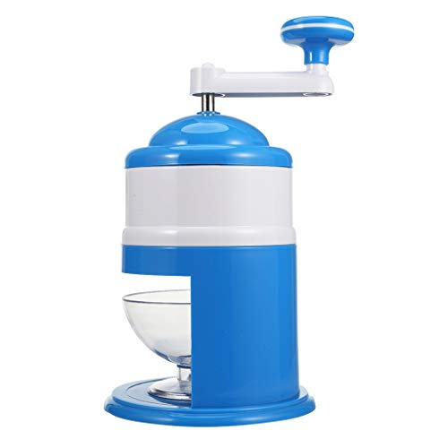 (Zerama Portable Hand Crank Manual Household Ice Crusher Shaver Snow Cone Maker Machine Kitchen Tool)