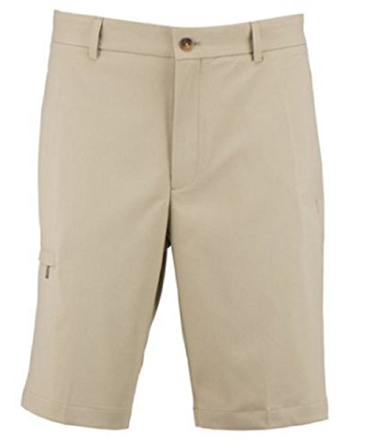 Greg Norman Flat Front Golf Shorts (36W, Beige)
