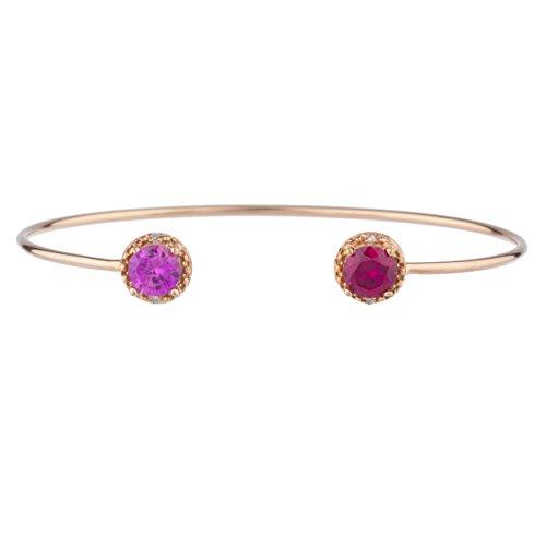Diamond & Sapphire Bangle Bracelet - 2