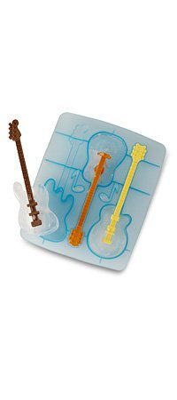 FRED Cool Jazz Ice Cube Stirs (set of 3) Guitar shaped ice tray drink Stirrers Swizzle Sticks (Cool Jazz Ice Tray)