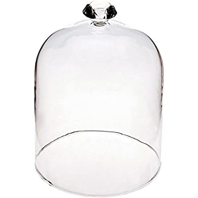 """Abbott Collection 27-Solitaire Lg Gem Top Dome Cloche-7"""" H, Large, Clear: Home & Kitchen"""