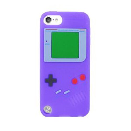 Generic New Gameboy Design Soft Cover Silicone Skin Case for iTouch Apple Ipod Touch 5 5th Generation, Purple (Case Ipod Boy 5th Game Generation)