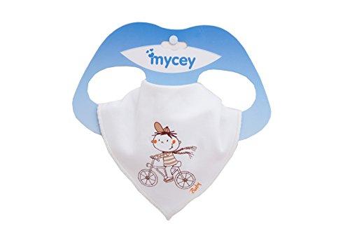 Mycey 700018BE Bandana Lätzchen - Fahrrad