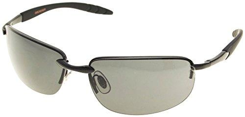 Dockers Mens Semi Rimless Sunglasses One Size - Black Dockers Sunglasses