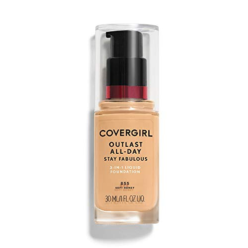 COVERGIRL Outlast All-Day Stay Fabulous 3-in-1 Foundation Soft Honey, 1 oz (packaging may vary) Cover Girl Soft Honey