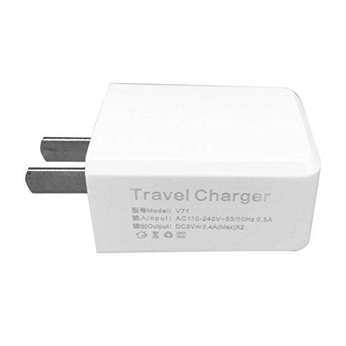 YOMYM 2.4A Cargador Rápido de Pared Universal Con Puerto USB de 1 Puerto para iPhone, iPad, HTC, LG y Más, Blanco(1...